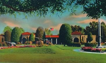 'U.S. Naval Training Station, Administration Building. San Diego, California', c1941. Artist: Unknown.