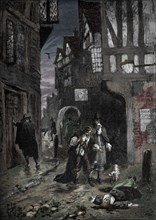 The Great Plague: scenes in the streets of London, 1665-1666 (1905). Artist: Unknown.