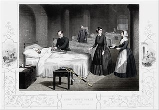 Florence Nightingale in the hospital at Scutari, c1860. Artist: Anon.