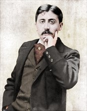 Marcel Proust, French intellectual, novelist, essayist and critic, late 19th-early 20th century. Artist: Otto.