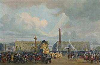 'The Funeral Cortège of Napoleon in the Place De La Concorde, December 15, 1840', (1896). Artist: Unknown.