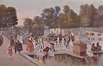 'In The Garden of the Tuileries', 1896. Artist: Unknown.