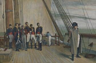 'Napoleon on Board H.M.S. Bellerophon, July, 1815', (1896). Creator: Unknown.