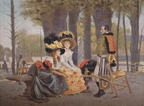 'La Causerie. - Life in Paris in 1793', (1896). Artist: Unknown.