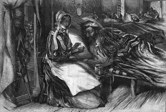 'Christmas Charity - Interior of an Hospital in the East', 1855.  Artist: George Meason.