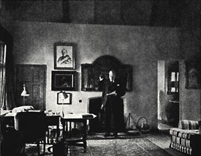 'Mr. Churchill in His Study at Westerham', 1930s, (1945). Creator: Unknown.