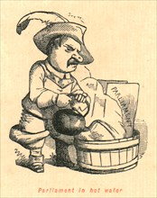 'Parliament in hot water', 1897.  Creator: John Leech.