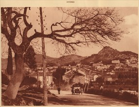 'View taken from Chemin de l'Hermitage, Hyeres', 1930. Creator: Unknown.