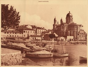 'The Harbour and the Church, Saint Raphael', 1930. Creator: Unknown.
