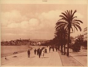 'Promenade de la Croisette and Mont Chevalier, Cannes', 1930. Creator: Unknown.