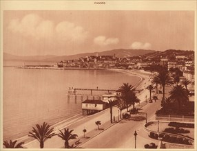 'The Croisette and Mont Chevalier, Cannes', 1930. Creator: Unknown.