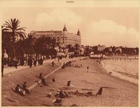 'Croisette Promenade - Beach and Casino, Cannes', 1930. Creator: Unknown.