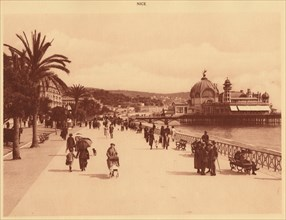 'Promenade des Anglais and the Jetty Palace, Nice', 1930. Creator: Unknown.