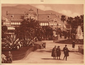 'The Gardens and the Casino, Nice', 1930. Creator: Unknown.