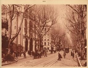 'Avenue de la Victoire and Notre-Dame Church, Nice', 1930. Creator: Unknown.