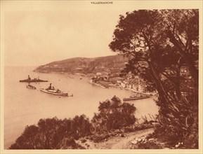 'View of the town and Roadstead, Villefranche', 1930. Creator: Unknown.