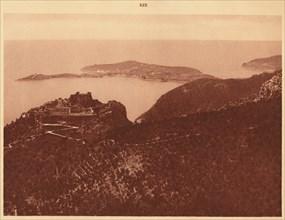 'Panorama and Cap Ferrat seen from the Grande Corniche, Eze', 1930. Creator: Unknown.