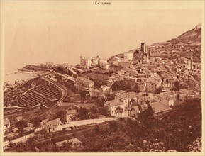 'Panorama and view of la Turbie, Monaco', 1930. Creator: Unknown.