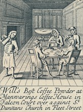 'An Advertisement For Will's Coffee House c.1700', (1944). Creator: Unknown.