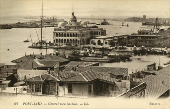 'Port-Said. - General view harbour. - LL.', c1918-c1939. Creator: Unknown.