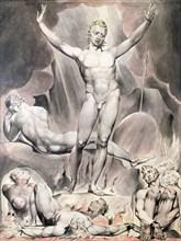 'Satan Arousing the Rebel Angels', 1808. Artist: William Blake
