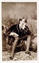 Oscar Wilde, Irish born wit and playwright, 1882. Artist: Unknown