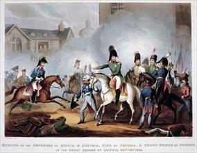 The Allied commanders at Leipzig, 1813 (1815). Artist: Thomas Sutherland