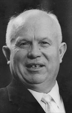 Nikita Khrushchev (1894-1971), Russian premier, c1960s. Artist: Unknown