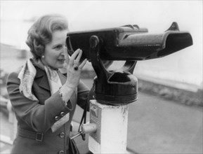 Margaret Thatcher taking a break from the Conservative Party Conference, Brighton, 11th October 1978 Artist: Unknown