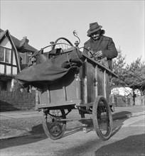 Gipsy knife-grinder, Horley, Surrey, 1963.
