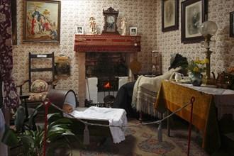 19th century cottage interior, Arran Heritage Museum, Brodick, Arran, North Ayrshire, Scotland.