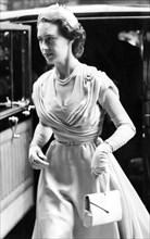 Princess Margaret arriving at the Royal College of Nursing, London, 1953. Artist: Unknown