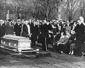 The funeral of US astronaut Virgil Grissom, Arlington National Cemetery, Washington, February 1967. Artist: Unknown