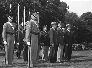 President Harry Truman visits the US Military Academy at West Point, New York, 1946. Artist: Unknown