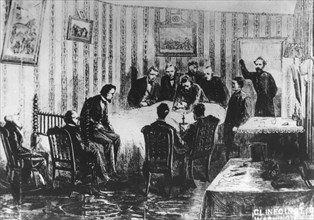 The death of President Abraham Lincoln, 14th April 1865. Artist: Unknown