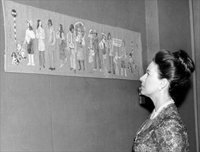Princess Margaret opening the 'Revival of Art in Needlework' exhibition, London, 1972. Artist: Unknown