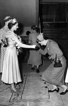 Princess Margaret at the Annual General Meeting of the Royal Student Nurses, 1953. Artist: Bippa