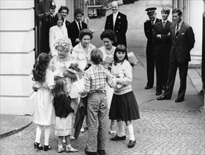 The Queen Mother receives 80th birthday presents from children, Clarence House, London, 1980. Artist: Unknown