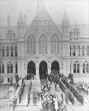 The opening of the University College, Nottingham, by Prince Leopold, Duke of Albany, 1881. Artist: Unknown