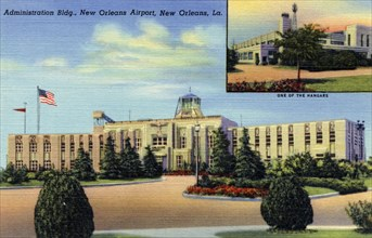 Administration Building, New Orleans Airport, Louisiana, USA, 1940. Artist: Unknown