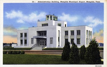 Administration Building, Memphis Municipal Airport, Memphis, Tennessee, USA, 1940. Artist: Unknown