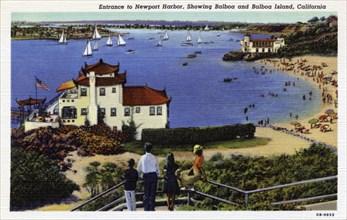 Entrance to Newport Harbor, California, USA, 1940. Artist: Unknown