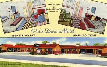 Palo Duro Motel, Amarillo, Texas, USA, 1950. Artist: Unknown