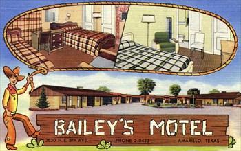 Bailey's Motel, Amarillo, Texas, USA, 1950. Artist: Unknown