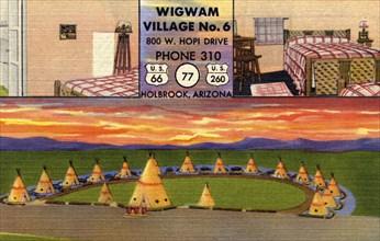 Wigwam Village No 6, Holbrook, Arizona, 1951. Artist: Unknown