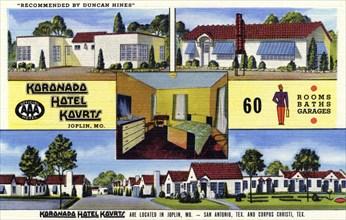 Koronado Hotel Kourts, Joplin, Missouri, USA, 1943. Artist: Unknown