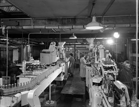 Ward & Sons soft drink bottling plant, Swinton, South Yorkshire, 1960. Artist: Michael Walters