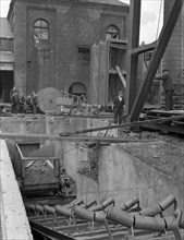 Newly installed conveyor sytem at Hickleton Main pit, Thurnscoe, South Yorkshire, 1961. Artist: Michael Walters
