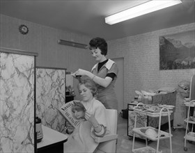 Hairdressing salon, Armthorpe, near Doncaster, South Yorkshire, 1964.  Artist: Michael Walters