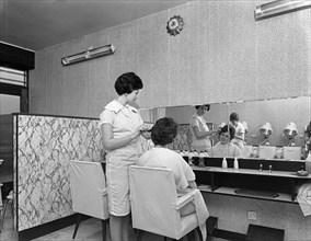 Hairdressers' salon, Armthorpe, near Doncaster, South Yorkshire, 1961.  Artist: Michael Walters
